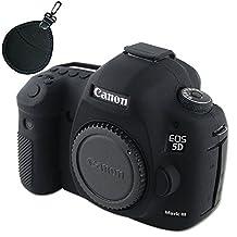 First2savv XJPT-5D3GJ-01UV black Rubber Camera Case Bag full cover for Canon EOS 5D Mark III . 5D Mk3 . 5DS . 5DSR .5DR + UV lens bag