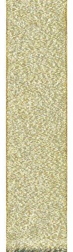 Offray Galena Metallic Craft Ribbon, 5/8-Inch Wide by 100-Yard Spool, Gold