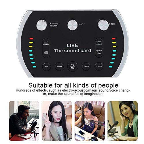 - Fealliance B5 Live Sound Card, Portable Mobile Audio Mixer, Karaoke Sound Mixer Recording Sound Card for Live Broadcast, K Songs, Recording, Voice Chatting (Black)