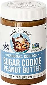 Wild Friends Foods Sugar Cookie Peanut Butter, 16 oz Jar