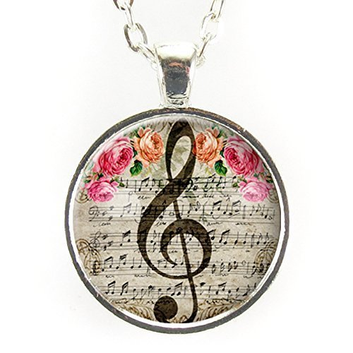 g clef necklace in gray gift ideas for music lovers christmas gift