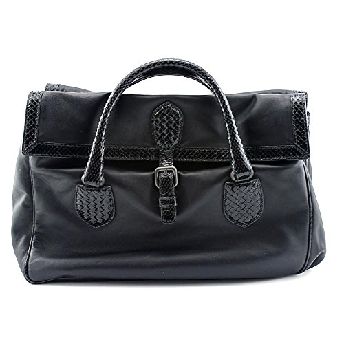 bottega-veneta-new-satchel-w-snake-women-black-satchel-nwt