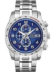 Bulova 96C121 Mens Marine Star Silver Chronograph Watch
