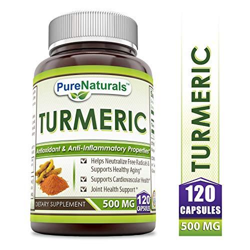 Pure Naturals Turmeric Curcumin Complex with 95% Curcuminoids, 120 Caps- Powerful Anti-inflammatory & Antioxidant…