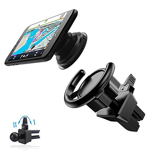Pop Out Stand Car Mount, KINGBACK 360° Rotation Air Vent Ph
