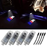 Klinee Car Door LED Logo Lighting Projector Welcome Lights For BMW 3 5 6 7 Z GT Series (4-Pack)