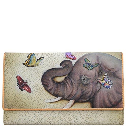 - Anuschka Women's Genuine Leather Multipocket Clutch Wallet | Gentle Giant