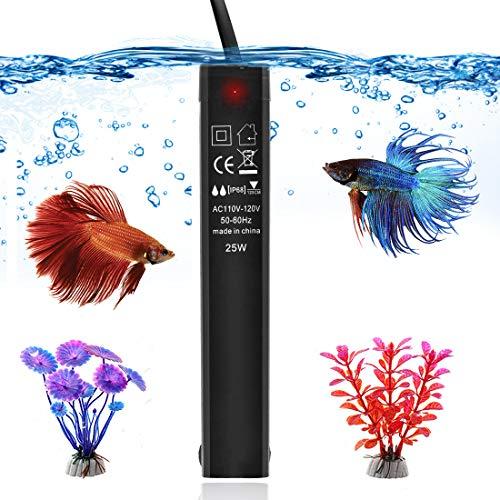 25W Betta Fish Tank Heater, Smart Thermostat Submersible Small Mini Aquarium Heater, Anti-Explosion/Energy-efficient…