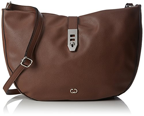 Old Weber Borse Shoulderbag Gerry Donna Marrone Round A Lhz cognac Rings Tracolla 4qwqpAUPW