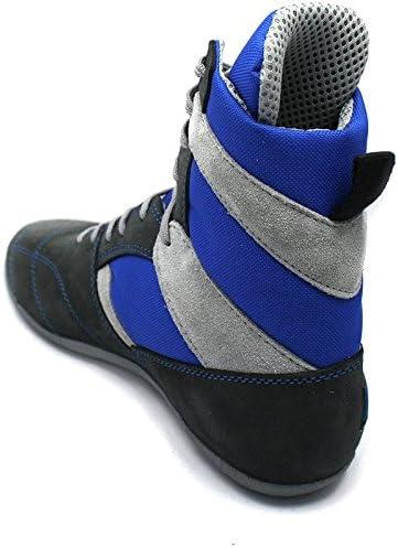 Chaussures boxe francaise savate Rivat modele Top gris royal