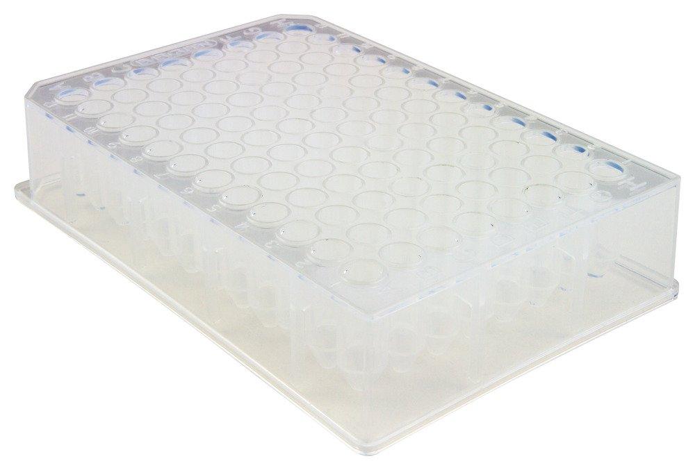 Caplugs Evergreen 290-8538-080 96-Well Deep-Well Plates. Polypropylene Co-Polymer, Natural, Bag pack by Caplugs