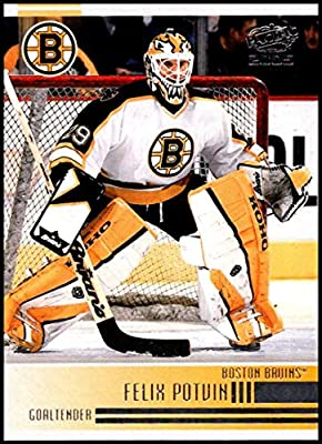 dce39cdc477 2004-05 Pacific #23 Felix Potvin Boston Bruins Official NHL Hockey Trading  Card