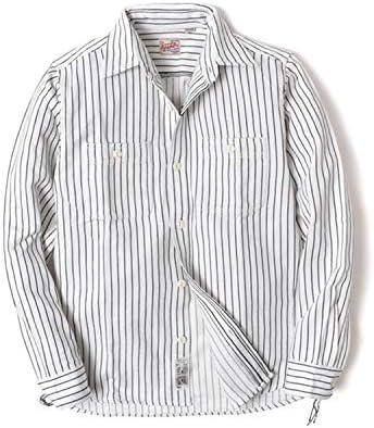シャツ メンズ 長袖 ( 大きいサイズ・カジュアル・ストライプ )