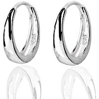 Tiny Small Sleeper Hoop Earrings for Women Girls Sensitive Ears Cartilage 925 Sterling Silver Huggie Mini Hoops Hypoallergenic 13mm