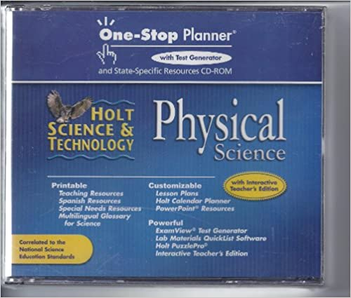 Amazon com: Holt Science & Technology: One-Stop Planner with