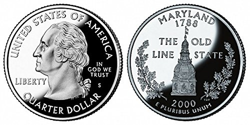 2000 S Maryland State Proof Quarter PF1 US Mint