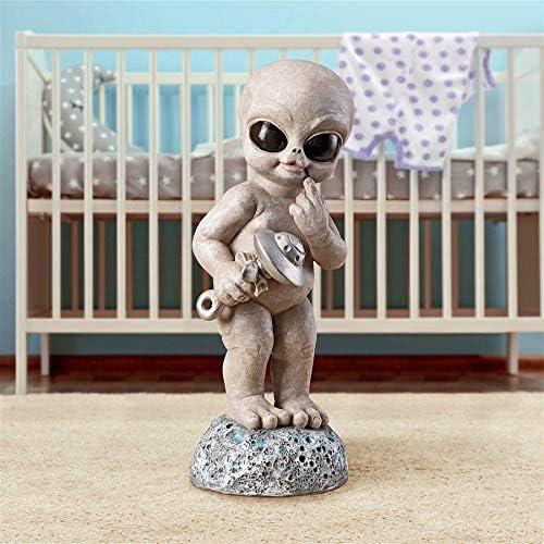 Full Color Design Toscano Zeta The Toddler Gray Alien Statue 16.5 Inch