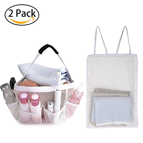 9 Nice Mesh Shower Caddy For Bathroom Storage - Portable Shower Caddy Quickly Dry Hanging Shower Bag, Toiletry Bag with 8 Storage Pockets For Attmu, Mayin, Haundry, ShowerMade, Fancii