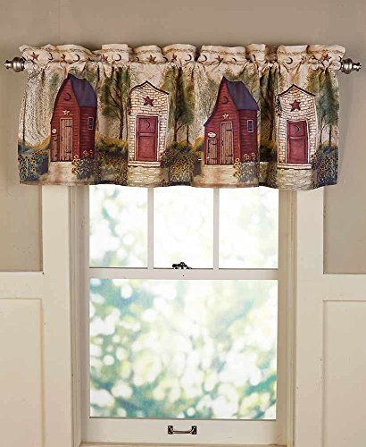 The Lakeside Collection Outhouse Valance (Outhouse Bathroom Towel Sets)