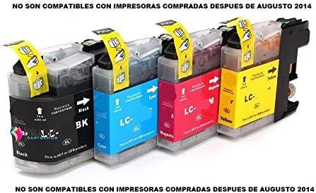 4 x Cartuchos Compatibles para Brother Lc121 Lc123 XL ALTA ...