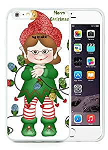 Personalization iPhone 6 Plus Case,Merry Christmas White iPhone 6 Plus 5.5 TPU Case 47