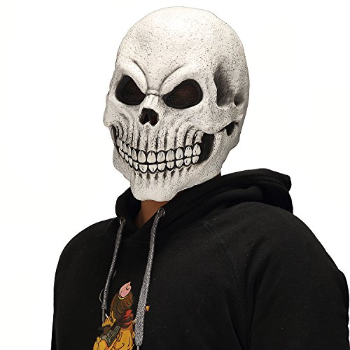 Mo Fang Gong She Halloween Death Zombie Scary Cosplay Prop Skeleton Cadavers Skull Horror Mask -