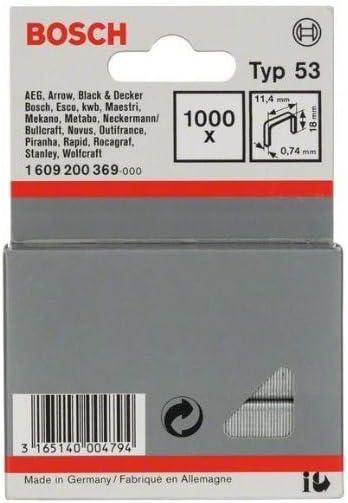 Bosch 1609200369 Fine Wire Staple 18x11 4mm 1000 Pcs