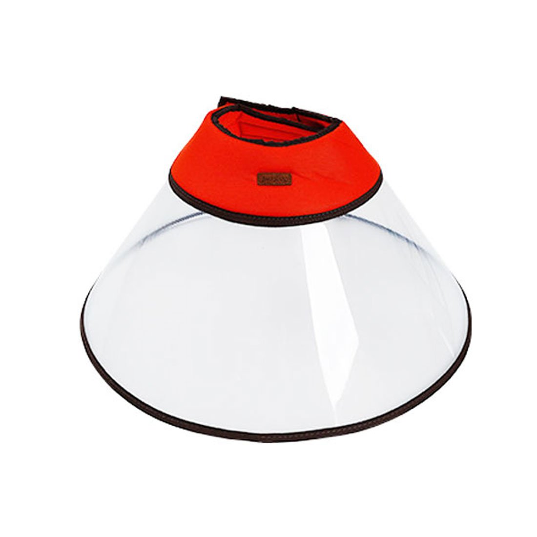 Recovery Pet Cone E-Collar for Dogs and Cats, Clear Plastic Elizabethan Collar with Breathable Soft Edge for Large Dogs (3XL, Red)