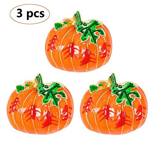 ZYJFP 3 Halloween Pumpkin Head Brooch Kit, Alloy Drop Oil Fashion Cute Brooch Women's Apparel Accessories]()