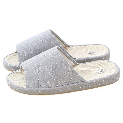 Bestfur Arche Design Respirant Confortable Belle Linge Intérieur Pantoufles Pour Les Femmes Gris