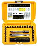 Chapman MFG #8900 Slotted hand tools Screwdriver Kit USA Made Gun Kit Firearm Kit Dental Equipment Kit Lab Equipment Kit Slotted Screwdriver Set