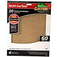 ALI INDUSTRIES 4440 60 Grit Sandpaper, 9-Inch x 11-Inch, 4 sheets