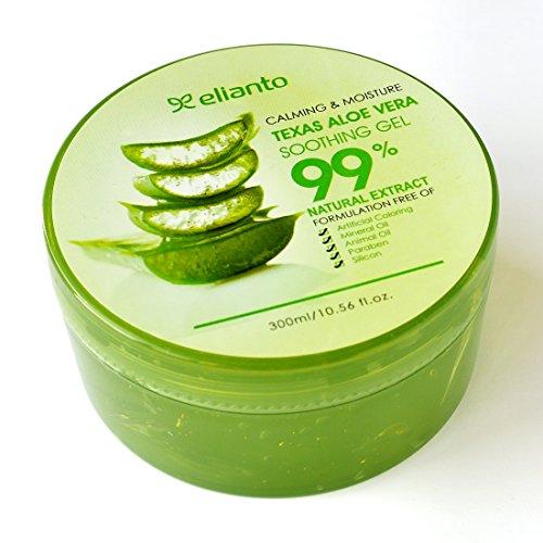 99% Texas Aloe Vera Gel Perfect For Hair To Heel (Aloe Vera -1 PACK)