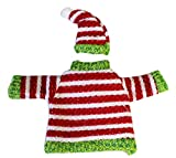 Red and White Striped Jolly Christmas Sweater Wine Snuggler - By Ganz