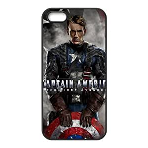 Captain America Design Solid Rubber Customized Cover Case for iPhone 5 5s 5s-linda852