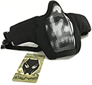 ATAIRSOFT Adjustable Military Tactical Protective Mesh Half Face Mask