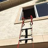 Hausse Retractable 3 Story Fire Escape Ladder, 25