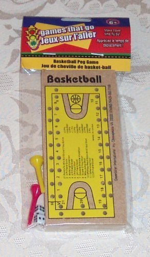 Wooden Travel BASKETBALL PEG GAME New in Package!