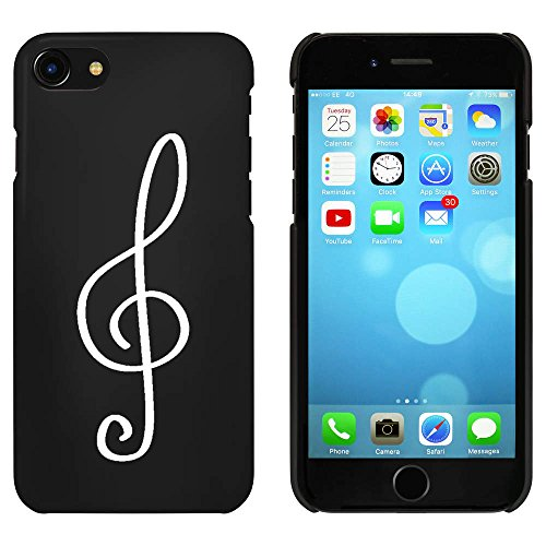 Noir 'Clé de Sol' étui / housse pour iPhone 7 (MC00056801)