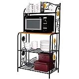 Yontree 4-Tier Kitchen Baker's Rack Utility Microwave Oven Stand Storage Cart Workstation Shelf