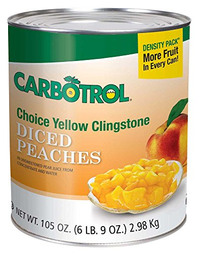 Fruit Carbotrol Peach Diced 6 Case 10 Can by Leahy IFP