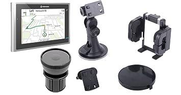 DURAGADGET Soporte Abrazadera Regulable Para Navegador GPS Navman Panoramic Con Portavasos Giratorio A Prueba de Movimientos