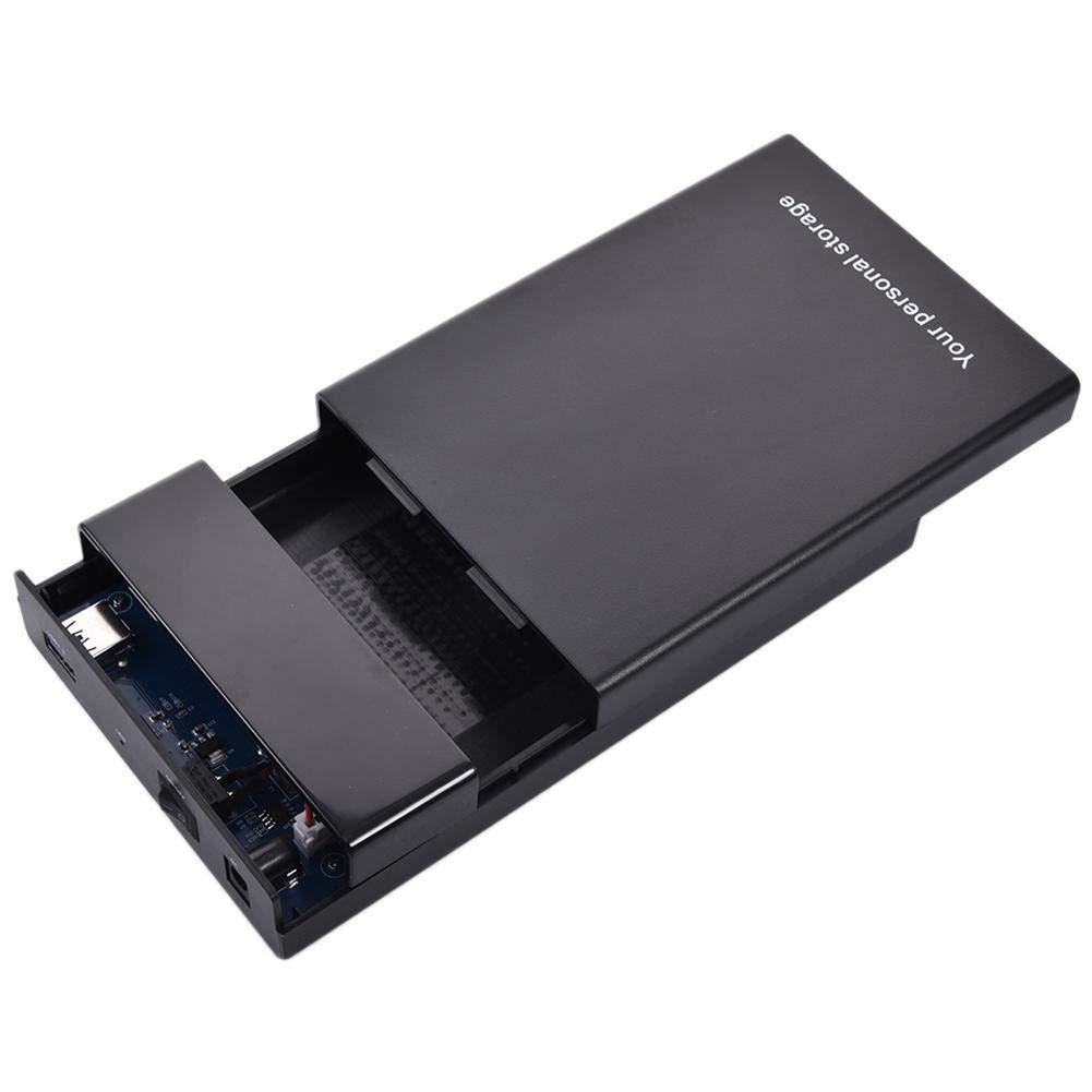 Meetforyou Sin Herramientas: Negro Caja de Disco HDD de 2.53.5 SATA a USB3.0 Soporte de Lector de Caja de Disco Duro Externo Unidades UASP de 10 TB Caja de 3.5 HDD