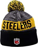New Era Pittsburgh Steelers 2016 Sport Pom Knit Hat On-Field Logo Block 12301