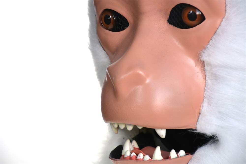 Festa delle Maschere XIANGBAO Maschera Animale di Simulazione del Macaco Bianco della Maschera commovente Fatta a Mano su Misura Furry del Gatto su Misura della Maschera