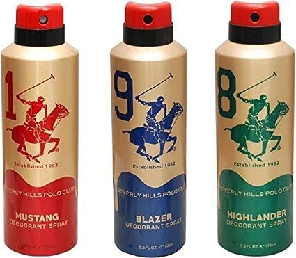 Beverly Hills Polo Club Desodorante en espray para hombre de 1,9,8 ...