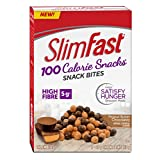 Slim Fast Advanced Nutrition 100 Calorie Snacks, Tasty High Fibre Snack Bites, Delicious Peanut Butter Chocolatey (5 x 23g Snack Packs To Go / 115g Total Per Package of 5 Snack Packs)