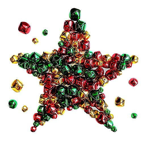 218 Pieces Jingle Bells Small Iron Craft Bells for Festival Party Decoration/Christmas Tree Decorations/DIY Crafts Accessories,3 Sizes (Decorations Craft Christmas Tree)