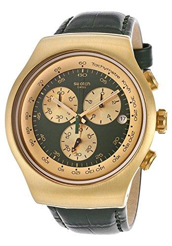 Swatch Golden Hide Green Men's Chronograph Watch - YOG406