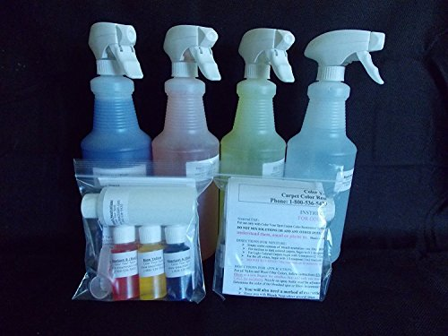 Homeowners Pet Stain Carpet Spot Dye Kit-Dog and Cat Urine by bleachstain by bleachstain